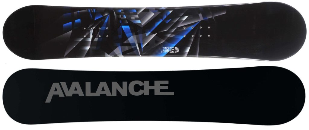 Avalanche Source snowboard black and blue
